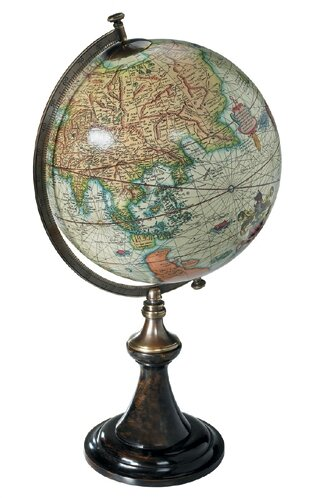Classic Mercator Globe with Stand by Authentic Models