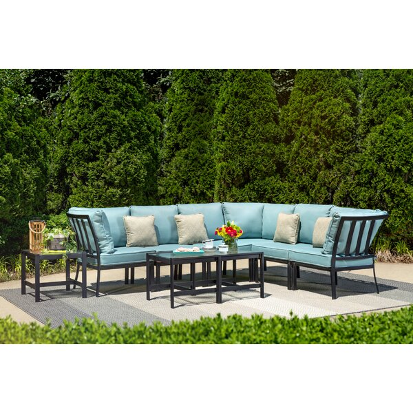 Avalon 9 Piece Rattan Sectional Set with Cushions by Ivy Bronx