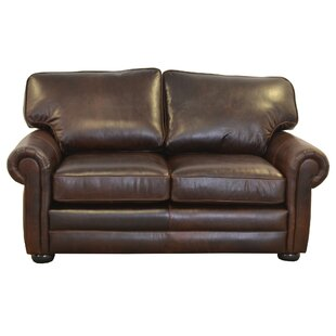 Fenway Studio Leather Loveseat Westland and Birch