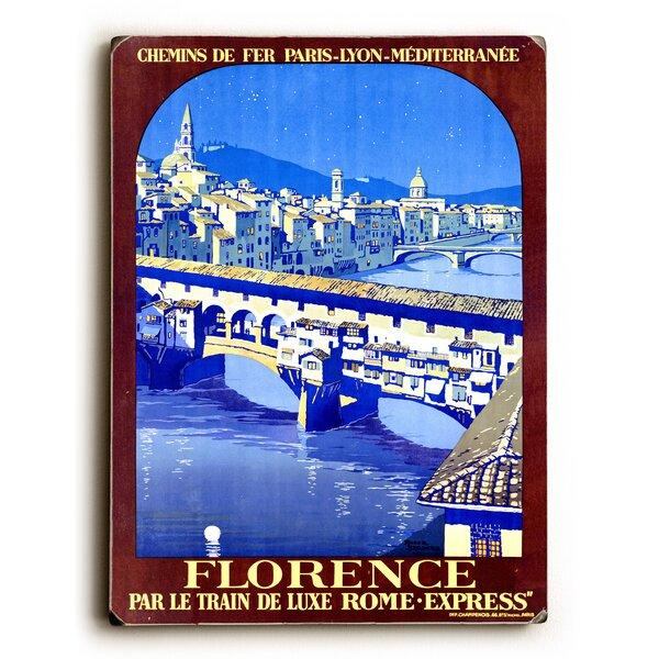 PLM Railway Florence Travel Vintage Advertisement by Artehouse LLC