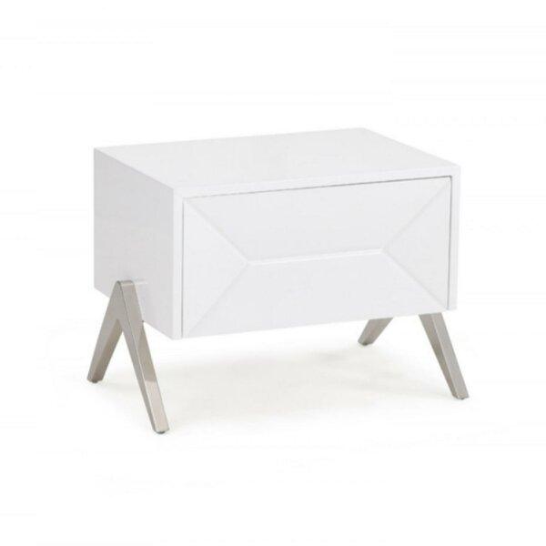 Climax Wooden 1 Drawer Nightstand by Orren Ellis