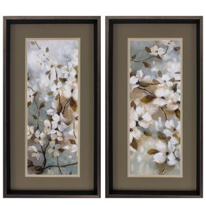 'Blossoms of Spring' 2 Piece Framed Painting Print Set by Propac Images