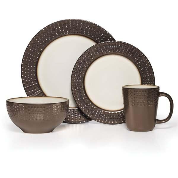 Metropolitan 16 Piece Dinnerware Set, Service for 4 by Gourmet Basics by Mikasa