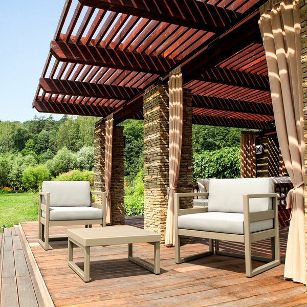 Millis 3 Piece Seating Group with Sunbrella Cushions