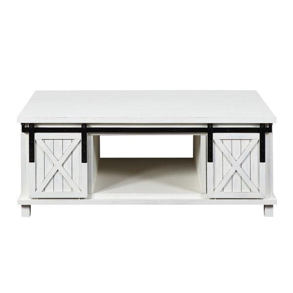 Krikoris Solid Wood Block Coffee Table With Storage By Gracie Oaks