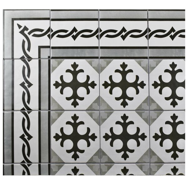 Haute 5.88 x 5.88 Ceramic Field Tile in Charcoal Gray by EliteTile