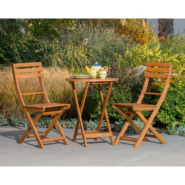 Obermeyer Eucalyptus 3 Piece Round Bistro Set by August Grove