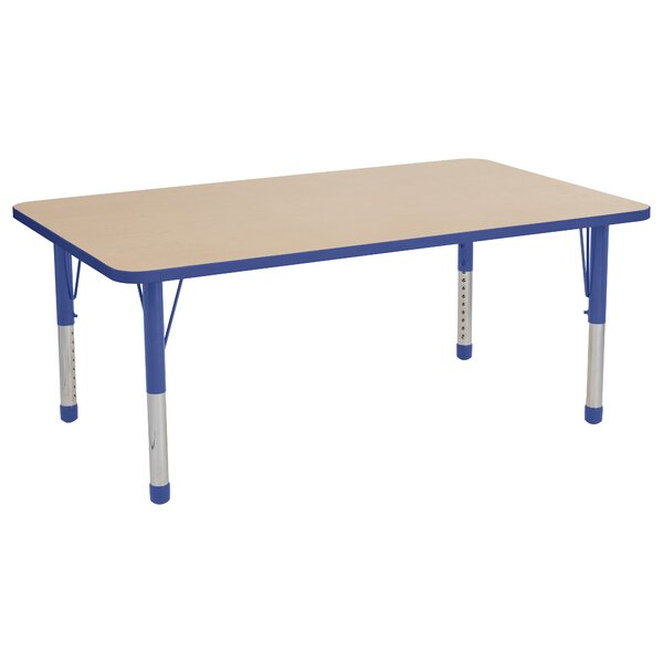 Thermo-Fused Adjustable 36 x 60 Rectangular Activity Table by ECR4kids
