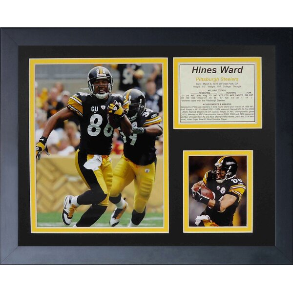 Hines Ward Home Framed Memorabilia by Legends Never Die