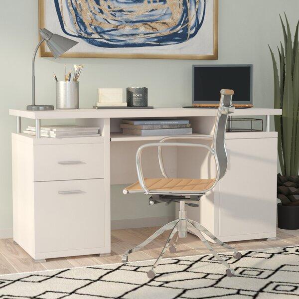 Brayden Studio Thaxted 2 Drawer Computer Desk & Reviews by Brayden Studio