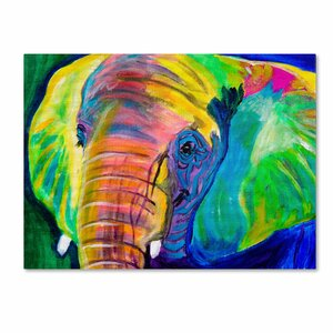 'Pachyderm' by DawgArt Painting Print on Wrapped Canvas by Trademark Fine Art