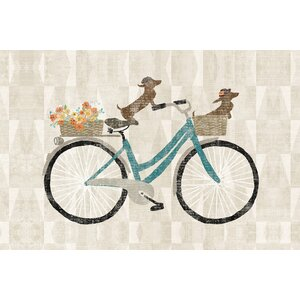 Doxie Ride I Graphic Art on Wrapped Canvas by East Urban Home