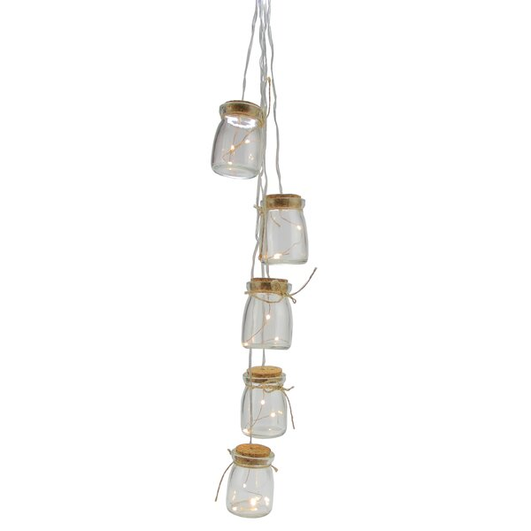 Battery Operated LED Glass Jar Hanging Christmas Light (Set of 5) by Northlight Seasonal