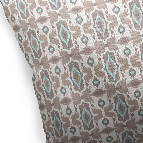 Gosnells Cotton Indoor/Outdoor Geometric Throw Pillow