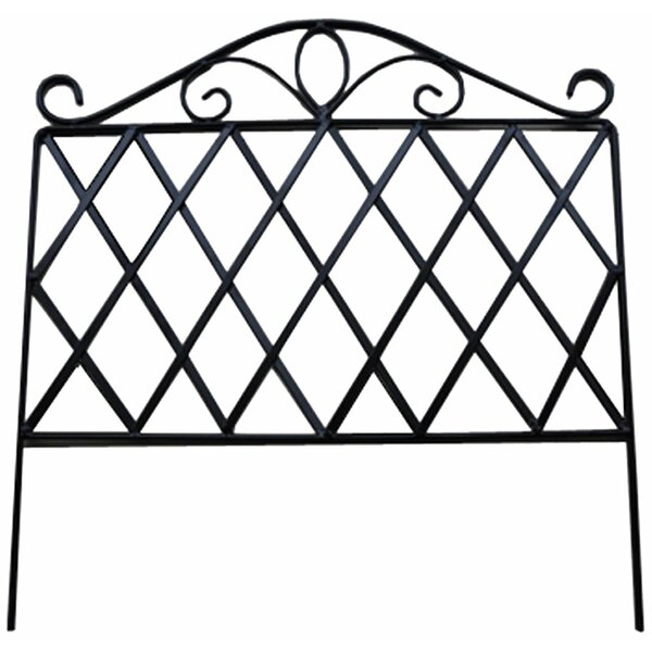 1.5 ft. H x 8 ft. W Garden Fence Panel (Set of 4) by Pangaea Home and Garden