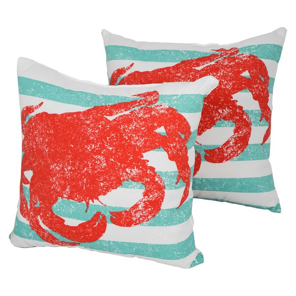 Designer Outdoor Throw Pillow (Set of 2) by Blazing Needles