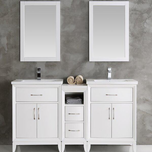 Cambridge 60 Double Bathroom Vanity Set with Mirror by Fresca