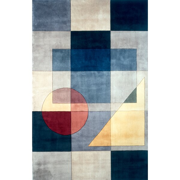 Eddie Hand-Tufted Blue Area Rug by Latitude Run