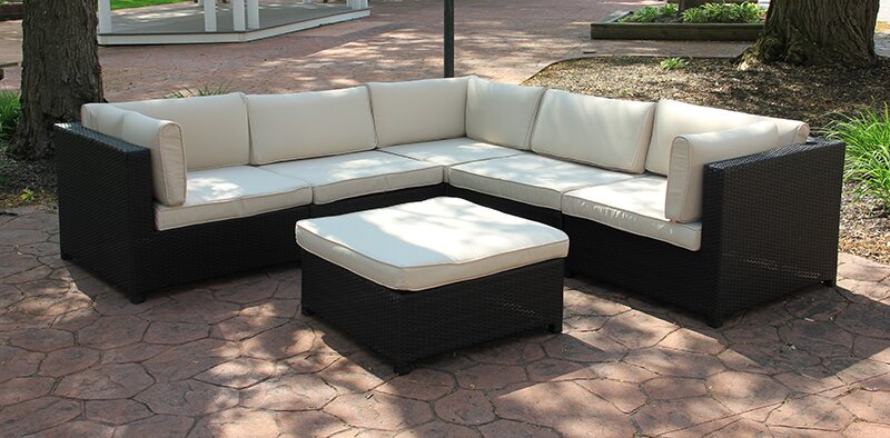 Outdoor Furniture Sectional Sofa Set with Cushions - Northlight Outdoor Furniture Sectional Sofa Set With Cushions