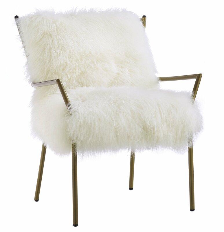 Cozy modern chic Paris apartment decorating ideas! Ottavio Modern #Sheepskin Armchair