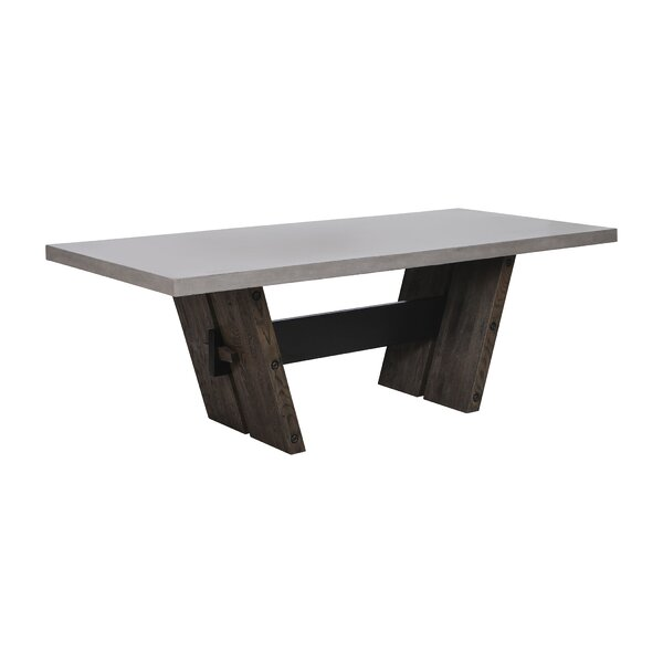Deon Solid Wood Dining Table by 17 Stories