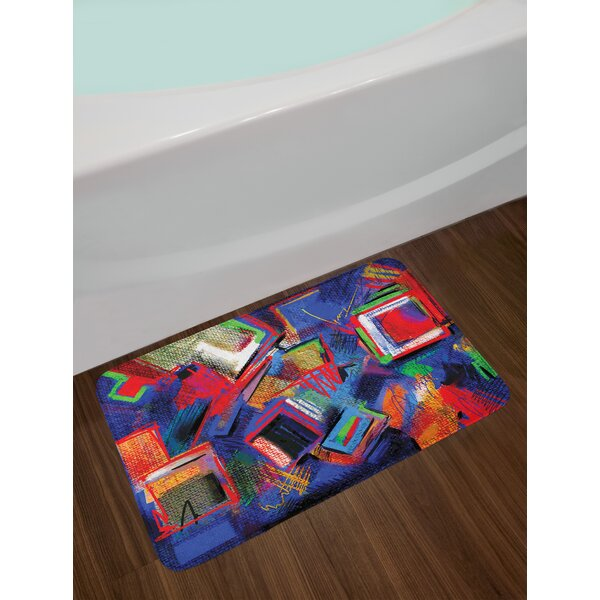 Abstract Hand Contemporary Bath Rug by East Urban Home