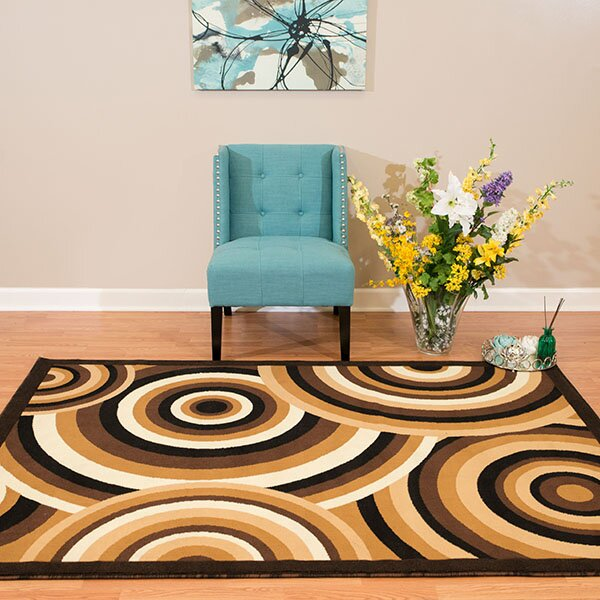 Eloise Brown/Beige Area Rug by Ebern Designs
