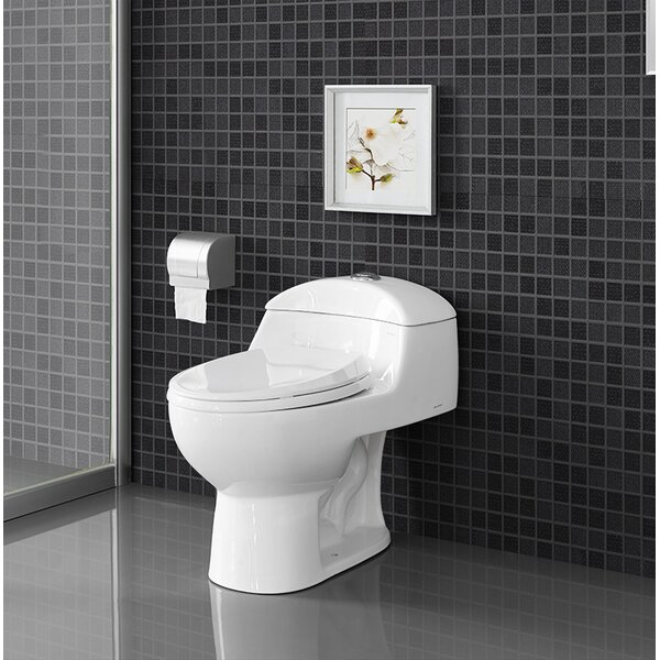 Chateau® Dual Flush Elongated One-Piece Toilet (Seat Included) by Swiss Madison