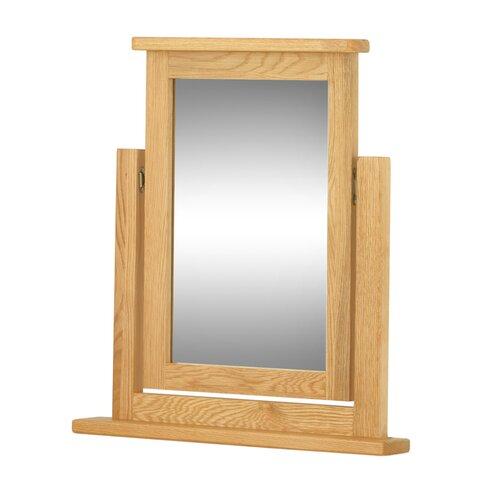 Rechteckiger Schminktisch-Spiegel Amelia Sommerallee Farbe: Eiche | Flur & Diele > Spiegel > Standspiegel | Sommerallee
