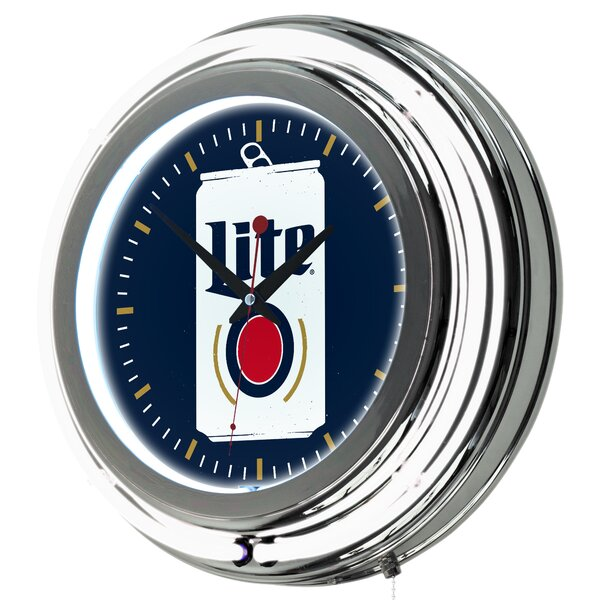Miller Lite Minimalist Neon 14.5 Wall Clock by Trademark Global