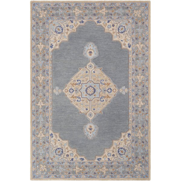 Edgerly Hand Tufted Wool Khak/Gray Area Rug by Bungalow Rose