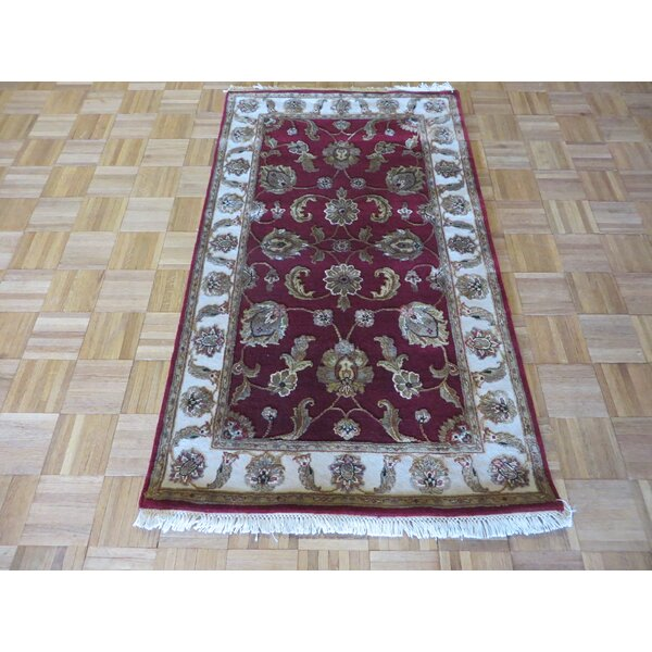 One-of-a-Kind Rhyne Burgundy Hand-Knotted Wool Burgundy Area Rug by Astoria Grand