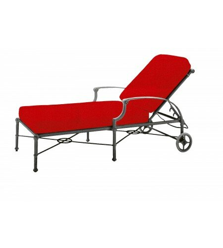 Delphi Reclining Chaise Lounge with Cushion by Woodard