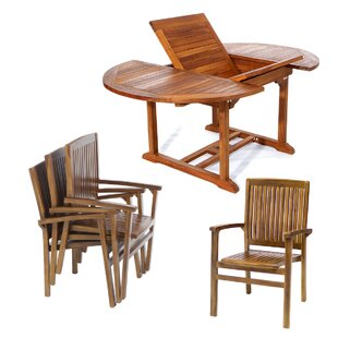 Teak 5 Piece Dining Set By All Things Cedar