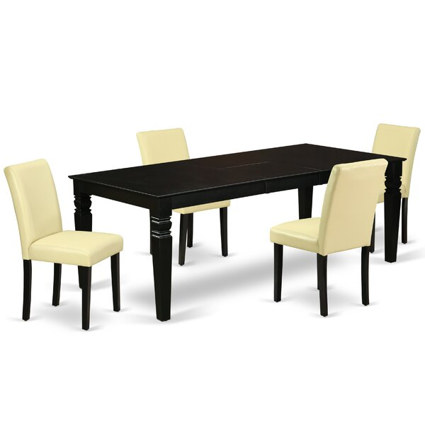 Novarupta 5 Piece Extendable Solid Wood Dining Set by Winston Porter Winston Porter