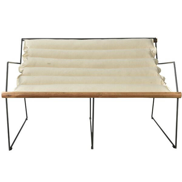 Top Design Mabton Canvas/Iron Loveseat by Brayden Studio by Brayden Studio