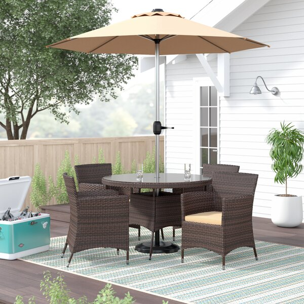 Sharber 6 Piece Dining Set with Umbrella by Brayden Studio