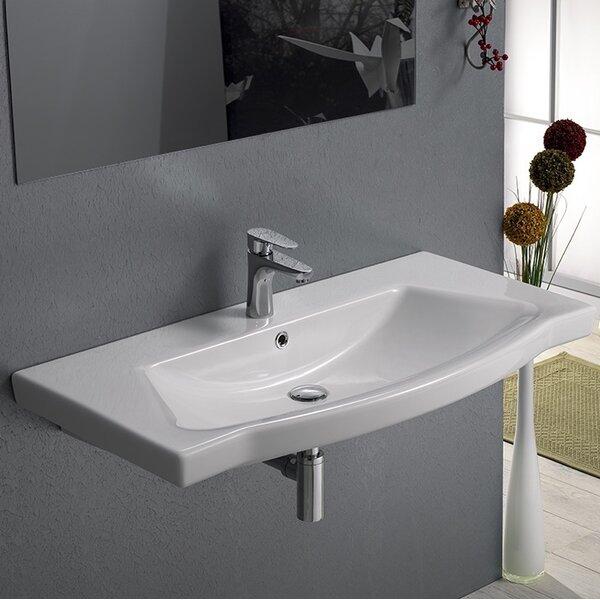 Argona Ceramic Rectangular Drop-In Bathroom Sink with Overflow by CeraStyle by Nameeks