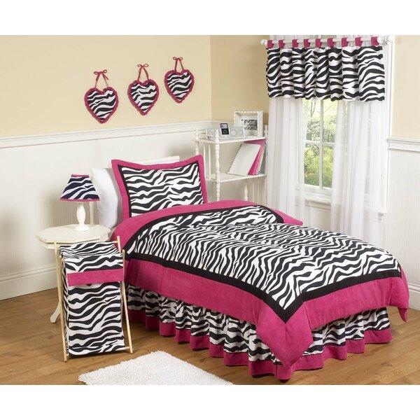 Zebra 4 Piece Twin Comforter Set by Sweet Jojo Designs