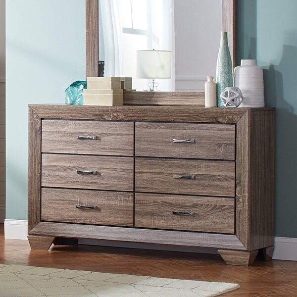 Mailiah 6 Drawer Double Dresser by Foundry Select