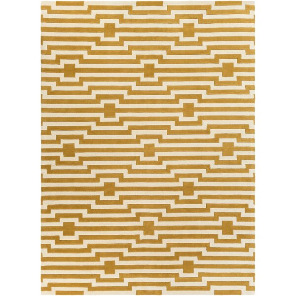 Zeitz Hand-Tufted Yellow Area Rug by George Oliver