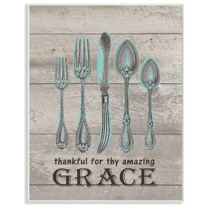 Thankful for Amazing Grace' Textual Art by Stupell Industries