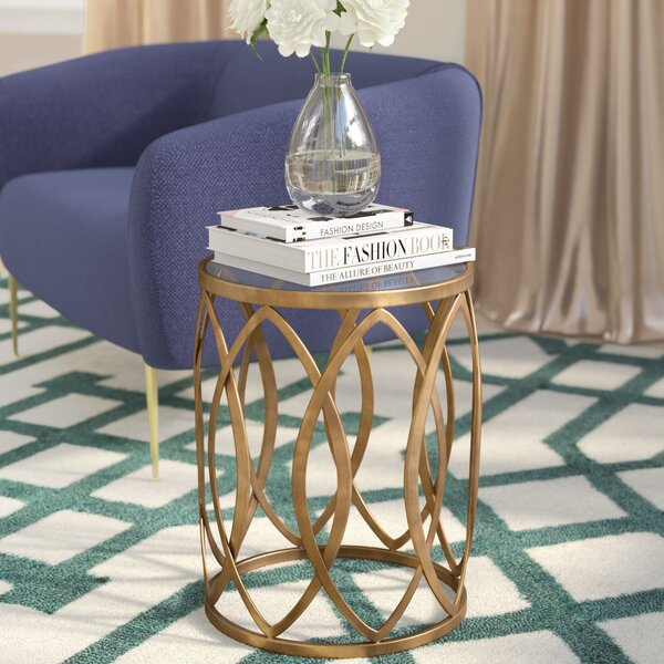 Crewkerne Metal Eyelet End Table by Willa Arlo Interiors