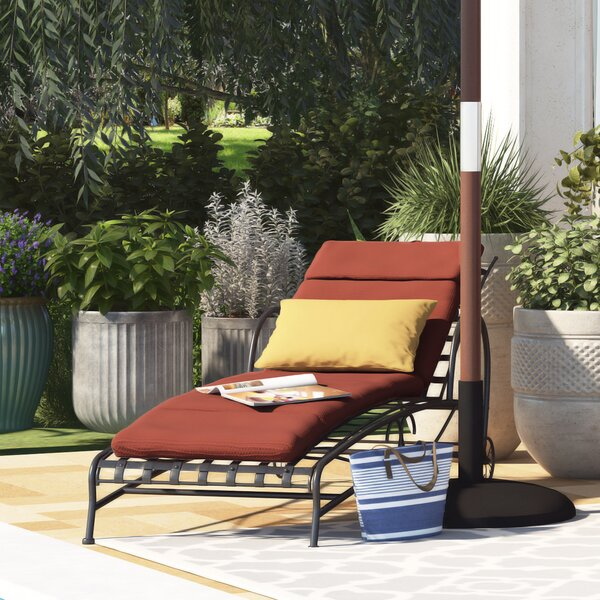 Polyester Indoor/Outdoor Chaise Lounge Cushion by Alcott Hill