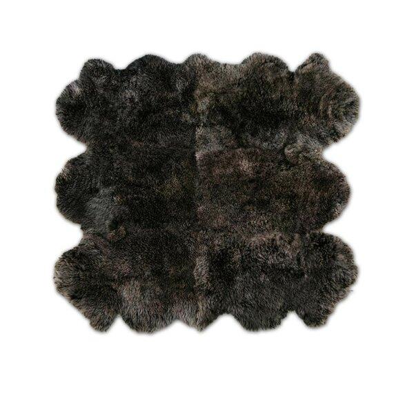 Patagonia Sheepskin Organic Brown Raccoon Area Rug by Pure Rugs