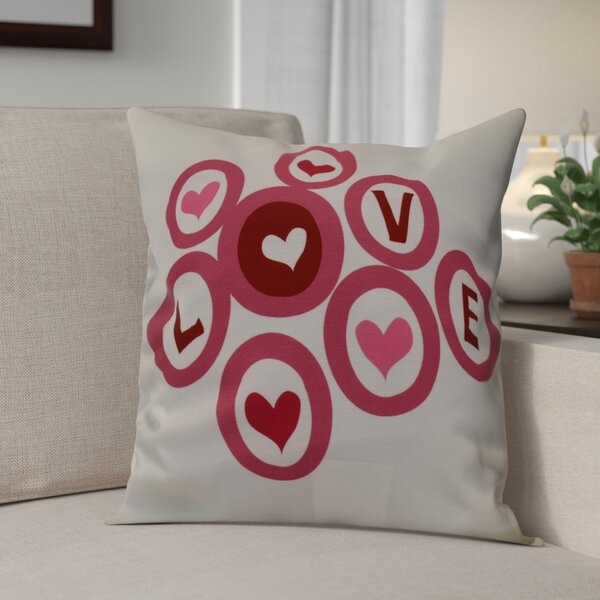 Love in the Round Throw Pillow by The Holiday Aisle
