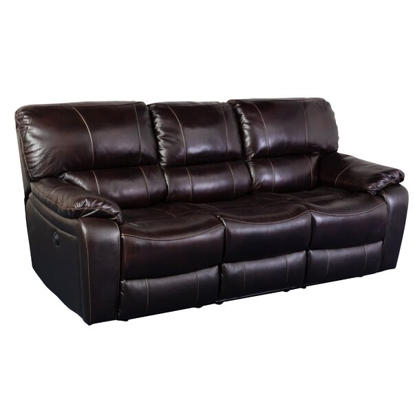 Baileyton Leather Reclining Sofa By Red Barrel Studio
