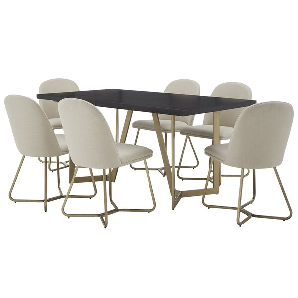 Phinney 7 Piece Dining Set by Everly Quinn Everly Quinn