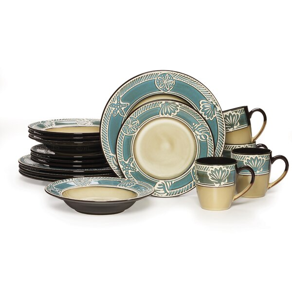 Montego 16 Piece Dinnerware Set, Service for 4 by Pfaltzgraff Everyday
