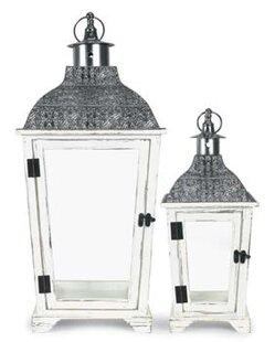 Order Decorative Metal/Wood Lantern By Bungalow Rose